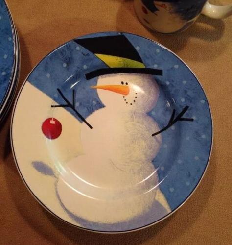 NIB Sakura Oneida Snowman 12pc