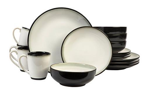 Sango Piece Set, Including Dinner Plates, and 4 Mugs