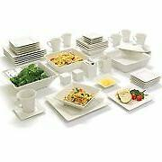 10 Strawberry Street Nova Square Banquet 45-Piece Dinnerware
