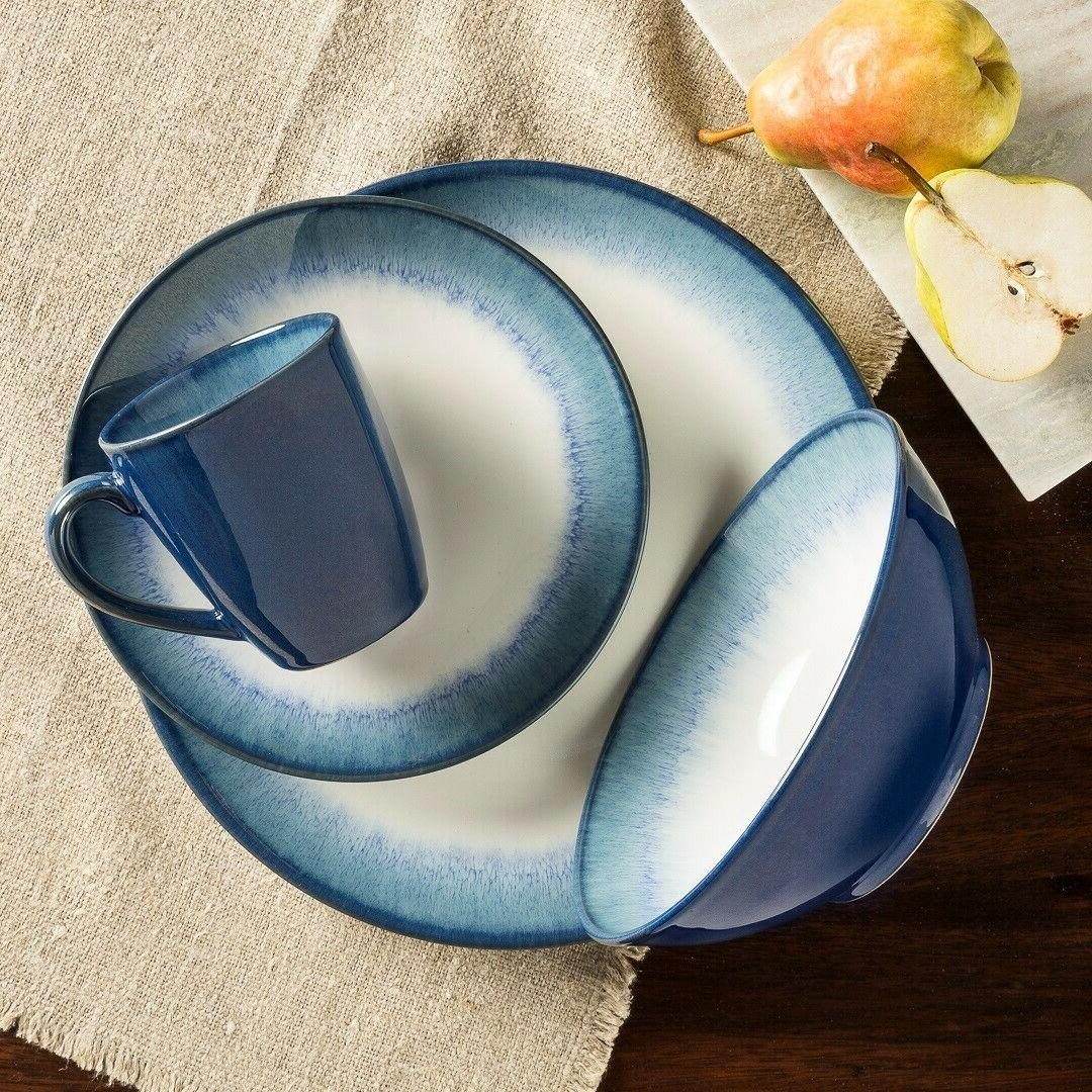 Sango 16 Piece Reactive Glaze Dinnerware