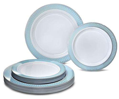 Plastic Wedding Plates.Occasions 50 Piece Party Disposable D