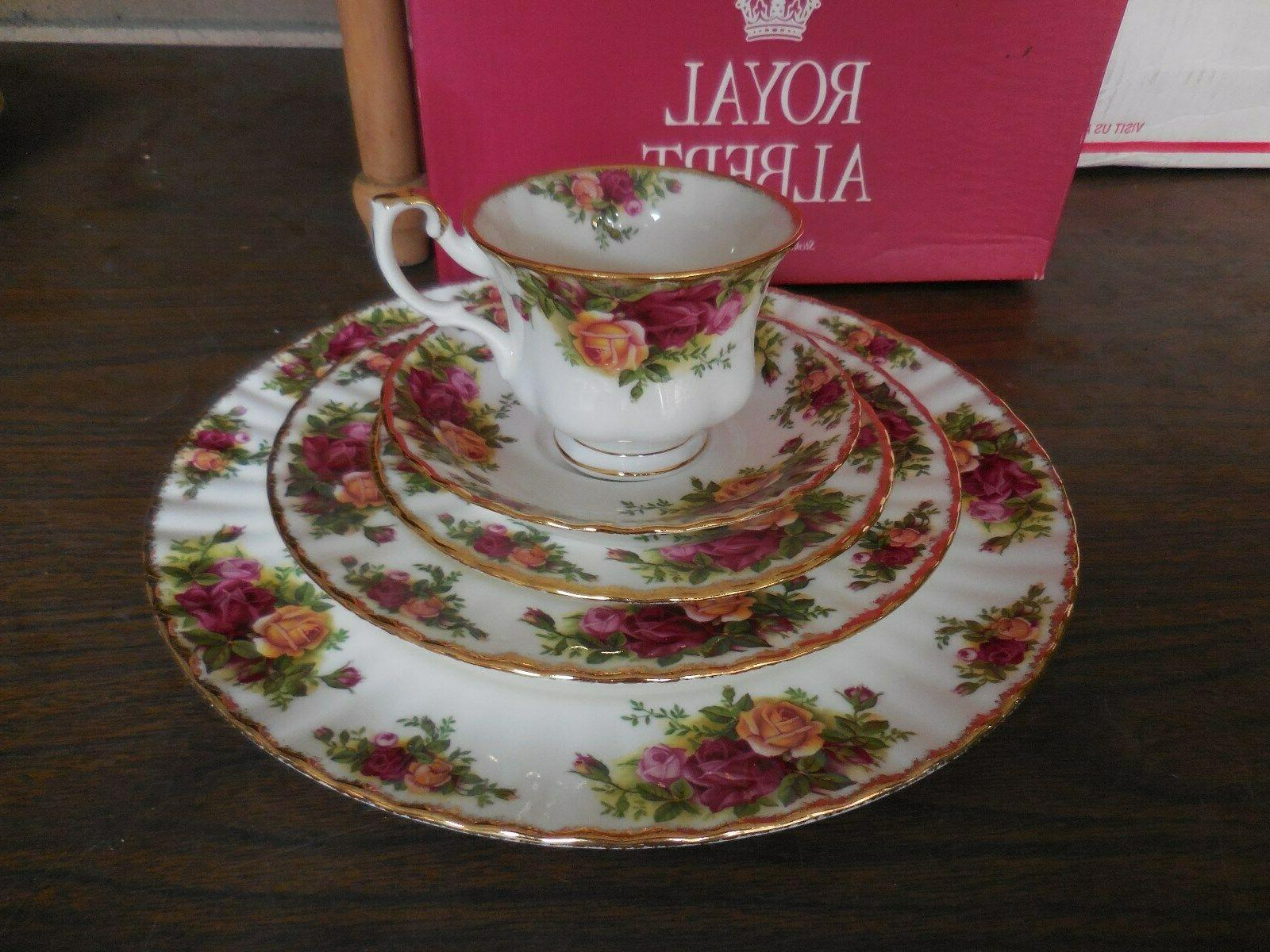 old country roses dinnerware set 5pc place