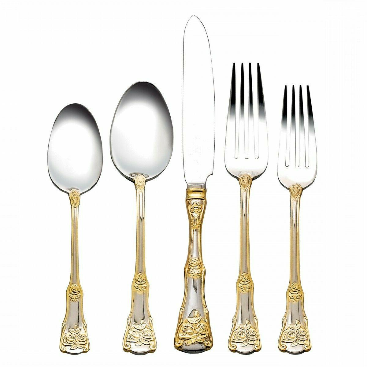 old country roses flatware set