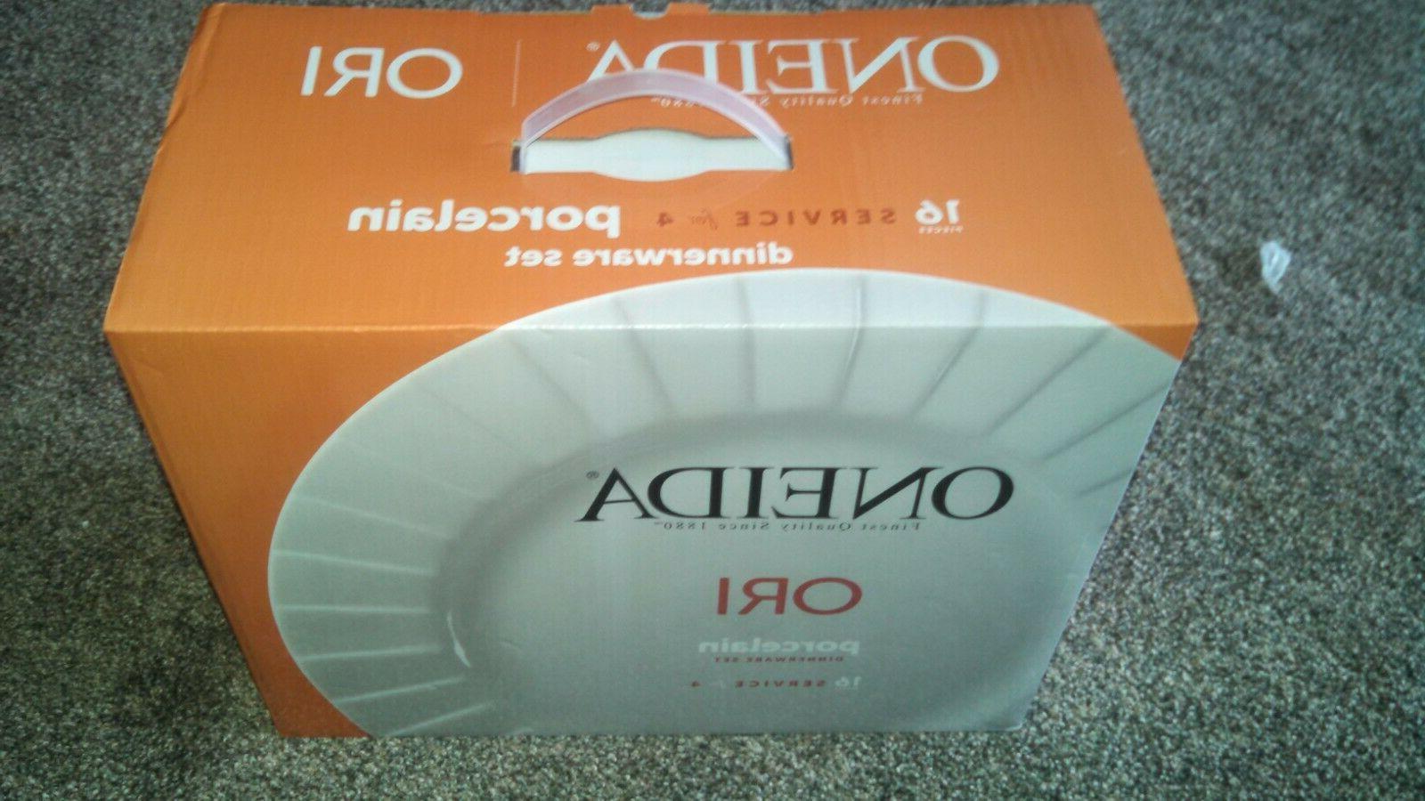 Oneida ORI D185916 Porcelain Dinnerware Set, Service