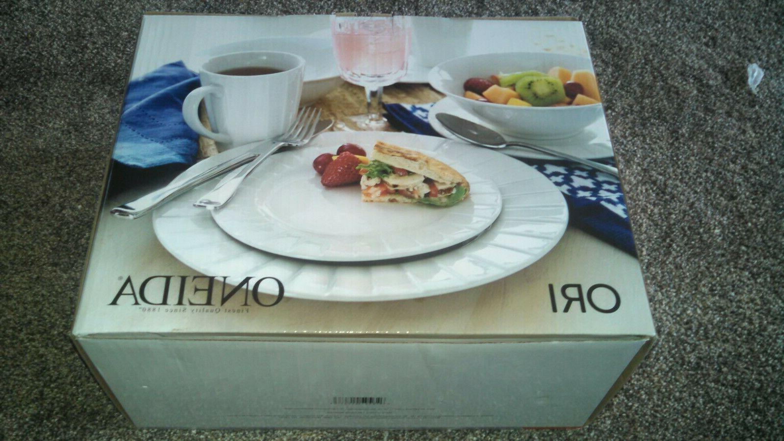 ori d185916 16 pc porcelain dinnerware set