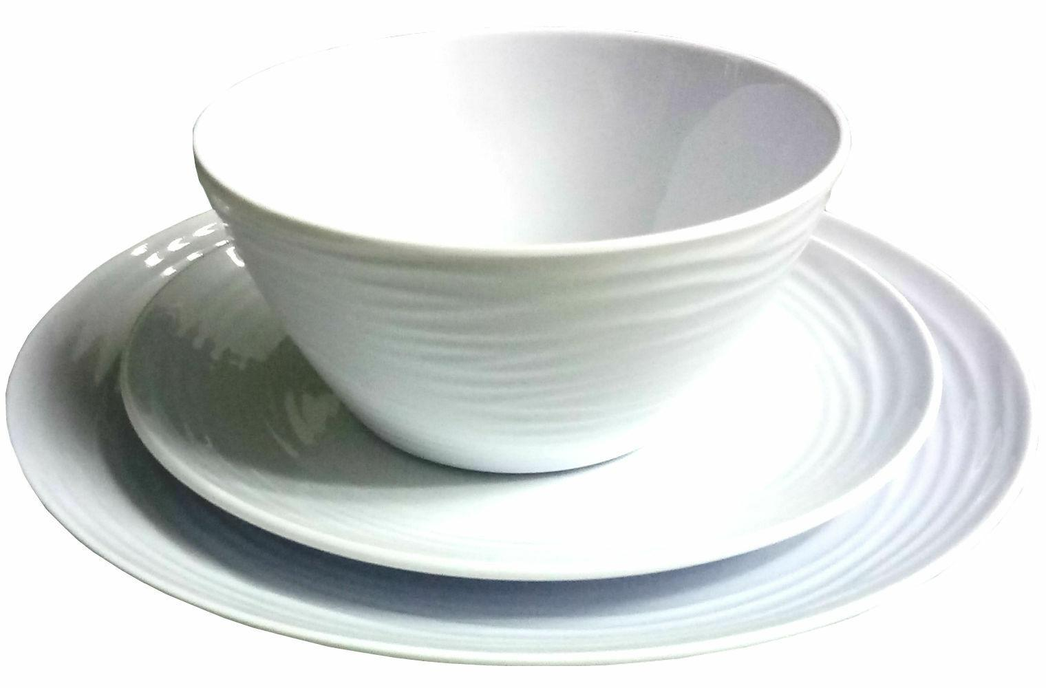 Parhoma Piece White Melamine Dinnerware Set People