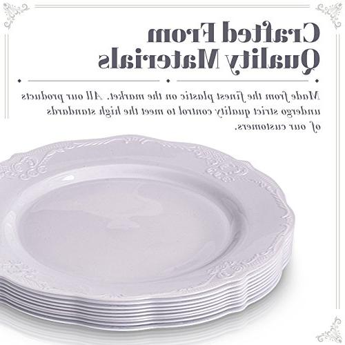 Party 20 pc Dinnerware 20 Dessert | Plastic Dishes Fine for Upscale Dining