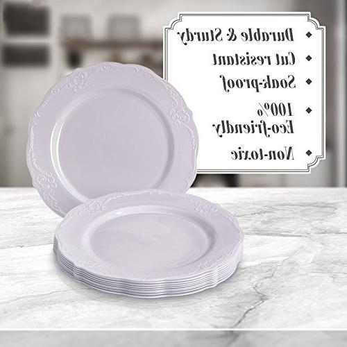 Party Dinnerware Dessert Plates | Plastic | Fine China for Upscale Dining
