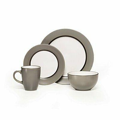 Pfaltzgraff Grayson 16-Piece Stoneware Dinnerware Set, Servi