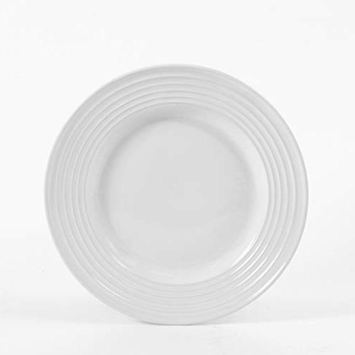Gibson Plaza Round Dinnerware Set White