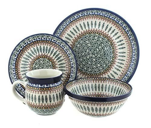 polish pottery tuscany dinner set