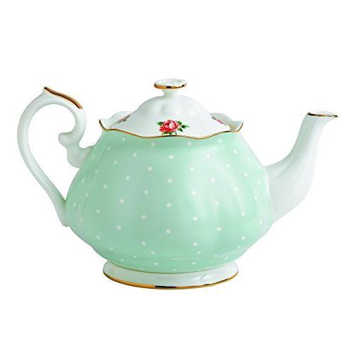 polka rose teapot