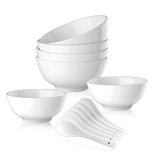 porcelain cereal soup bowl set