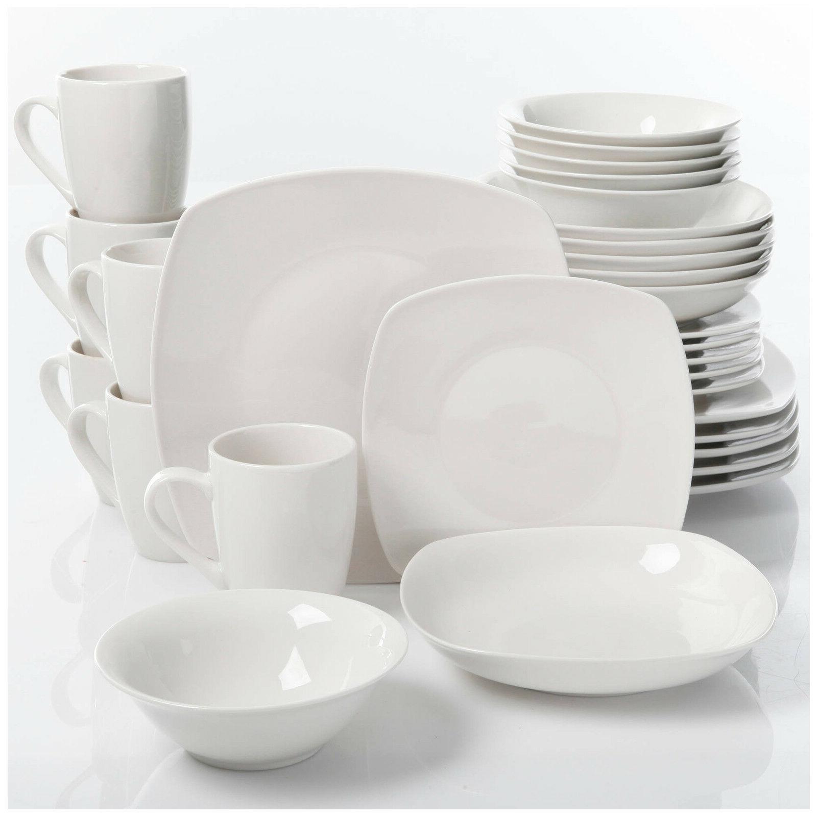 Porcelain Set 6 30Pc Dishes