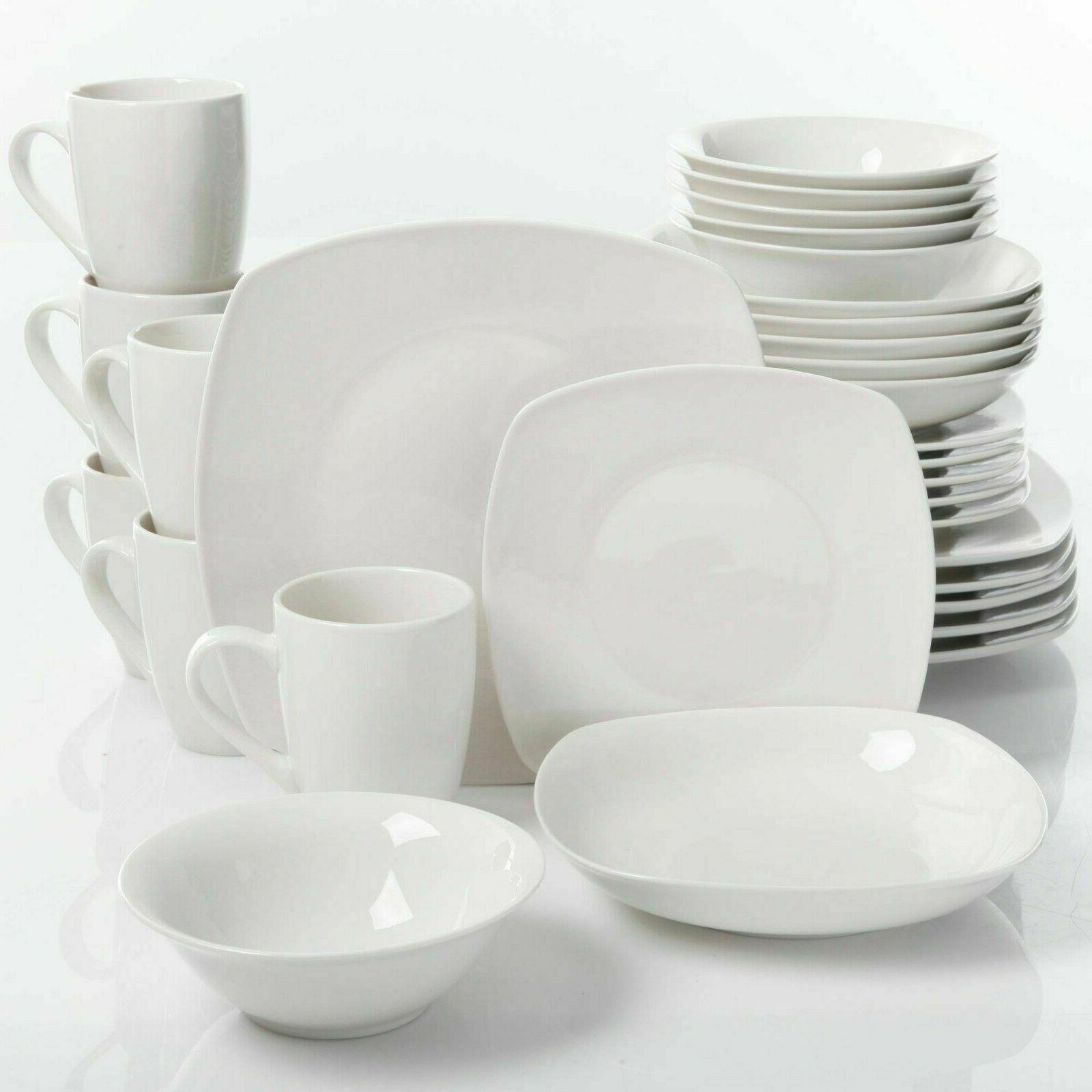 porcelain dinnerware set square dinner plates dish