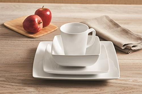 Better and Porcelain I Table 16-Piece Square Set White