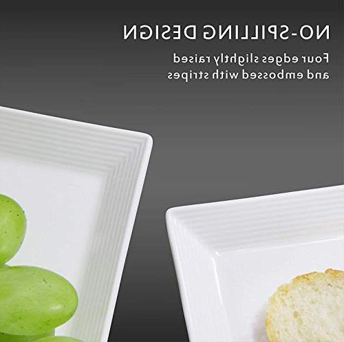 DOWAN Platters/Rectangular Plates - 4 Packs,