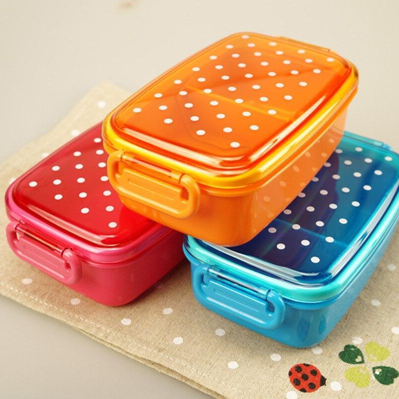 Portable <font><b>Polka</b></font> <font><b>Dot</b></font> Food Container Kids Microwave