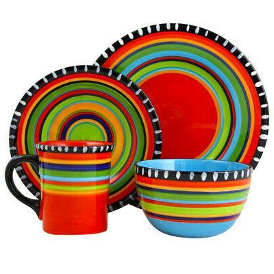 pueblo springs 16 piece durastone dinnerware set