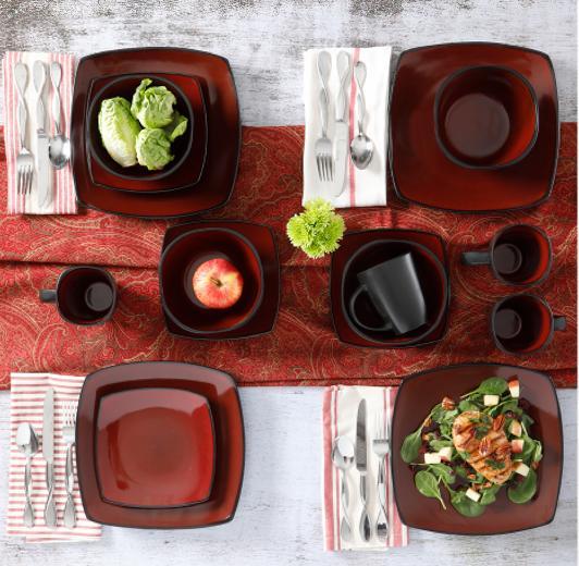 Quality Home Lounge Square Dinnerware Set