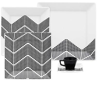 quartier porcelain pied collection dinnerware set white