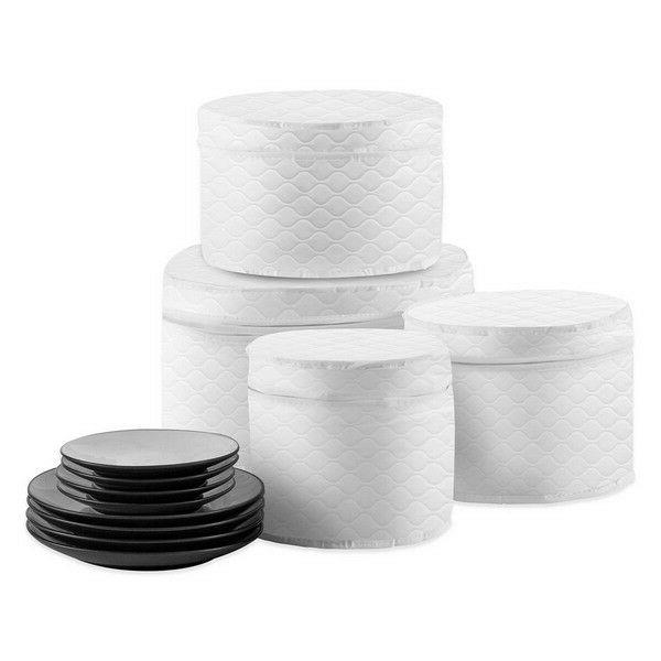 SALT Quilted 4-Piece Plate Case Set Home Kitchen Fine China