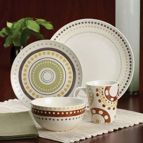 Dots Stoneware Dinnerware Set