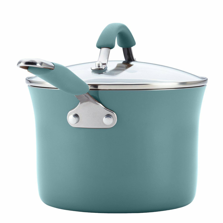 12pc Ray Set Blue Pans Lids Non Stick