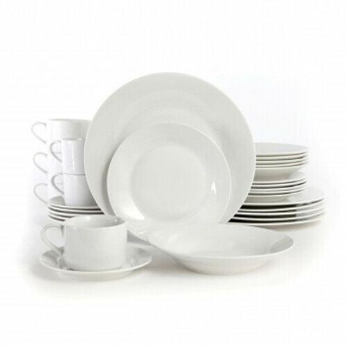 Gibson Rosendal 30 Piece Porcelain Dinnerware Set in White 6