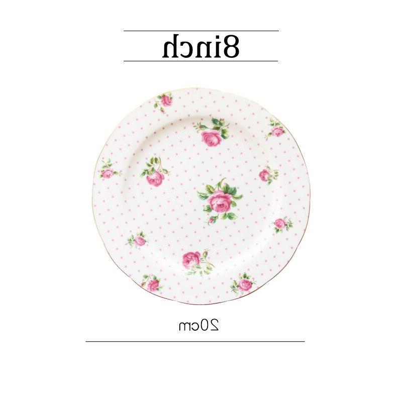 Round Dinner Tableware Dishes Dessert