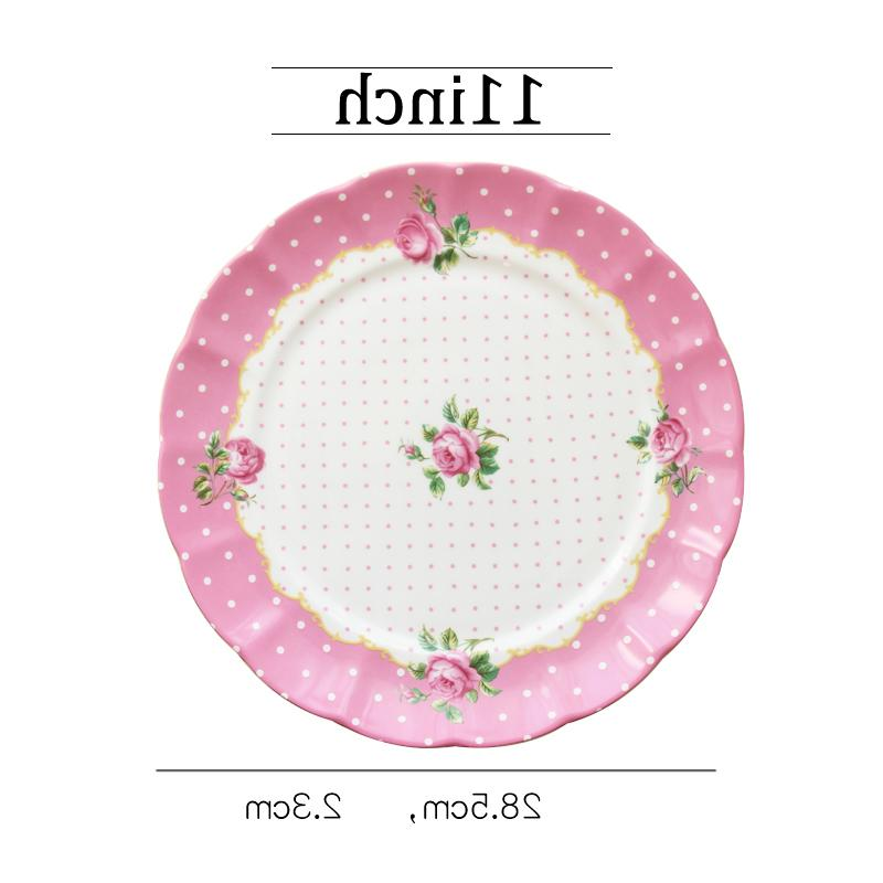 Round <font><b>dots</b></font> Ceramic Dinner Tableware Ceramic Dishes Dessert Dishes Plates