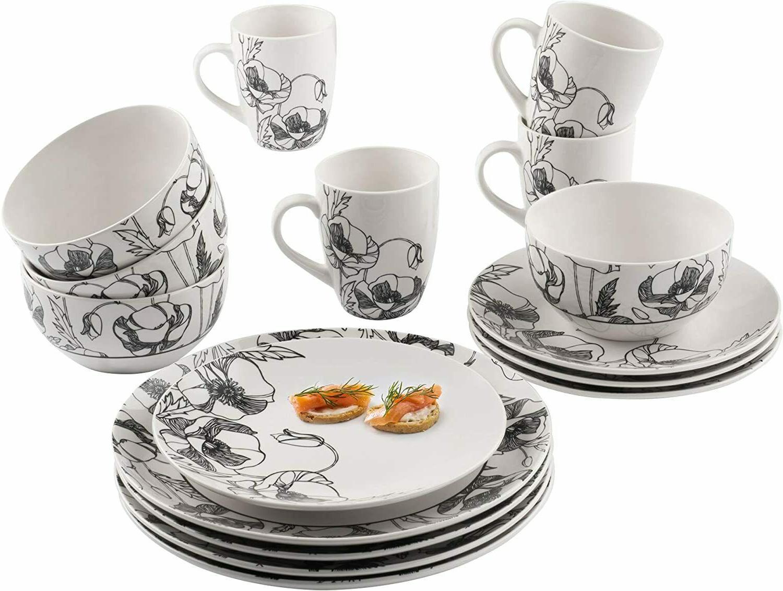 Elle Round Plates Bowls Dinnerware Floral