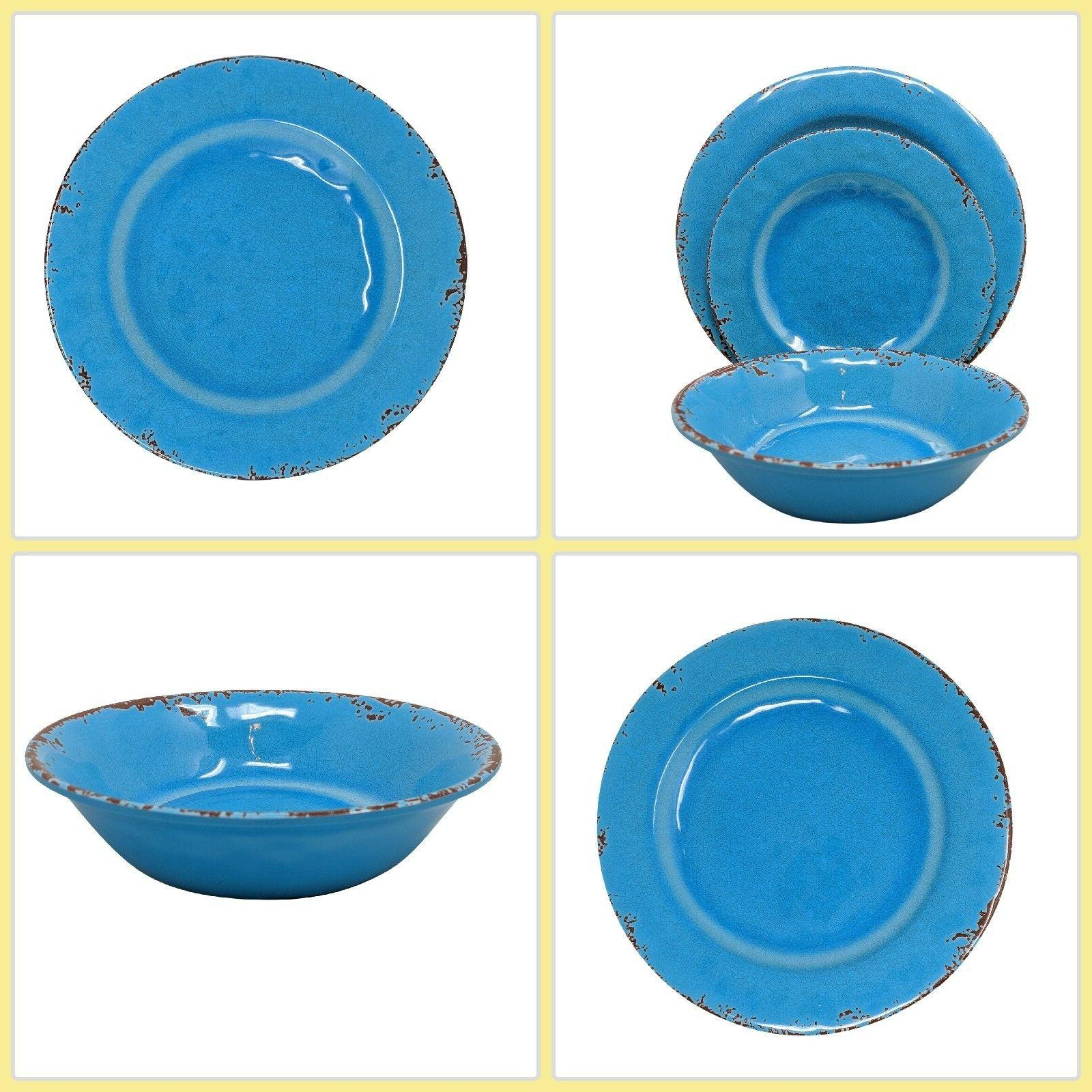 rustic farmhouse melamine dinnerware set