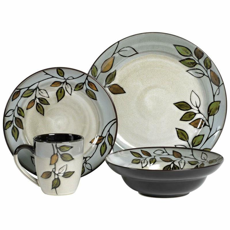 rustic leaves dinnerware set assorted