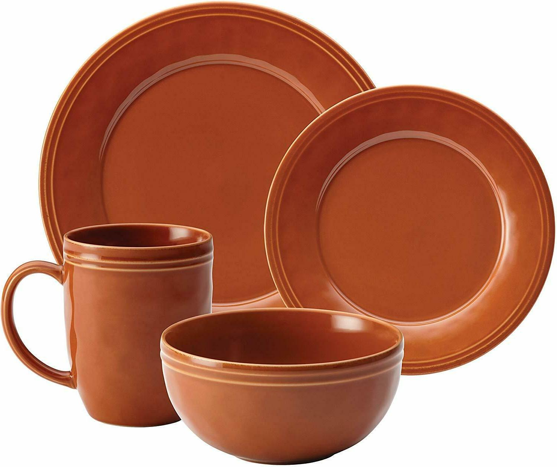 Cucina Stoneware Dinnerware Set Orange Farm