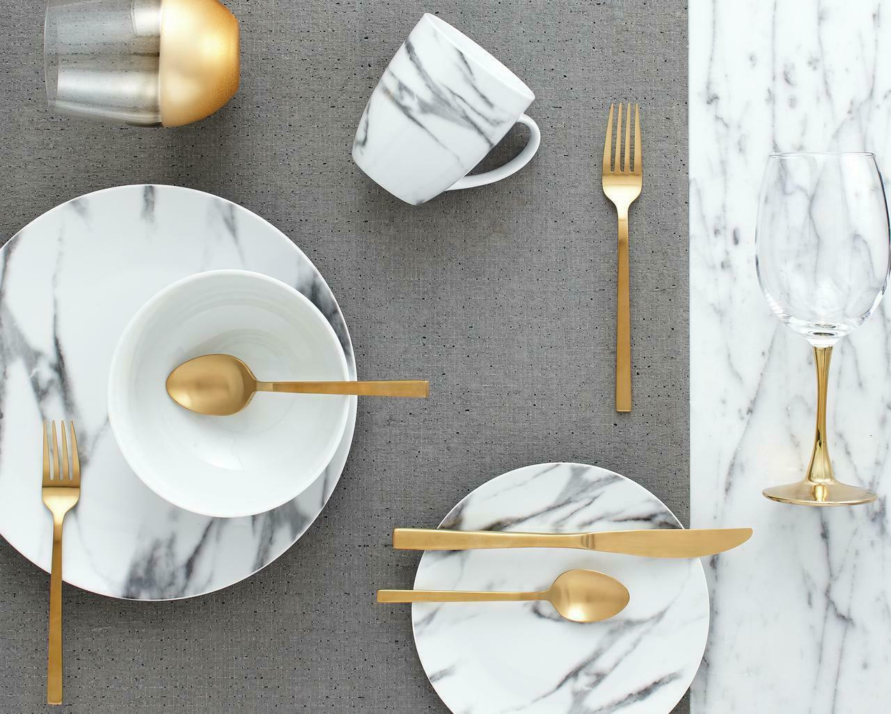 safdie and co 16 piece coupe dinnerware