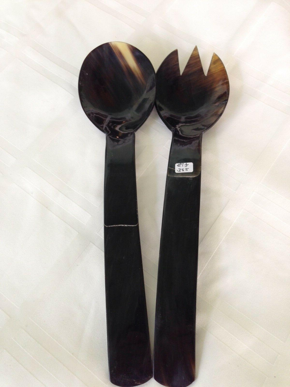 Salad Serving Spoon Set Dining NEW Handcrafted