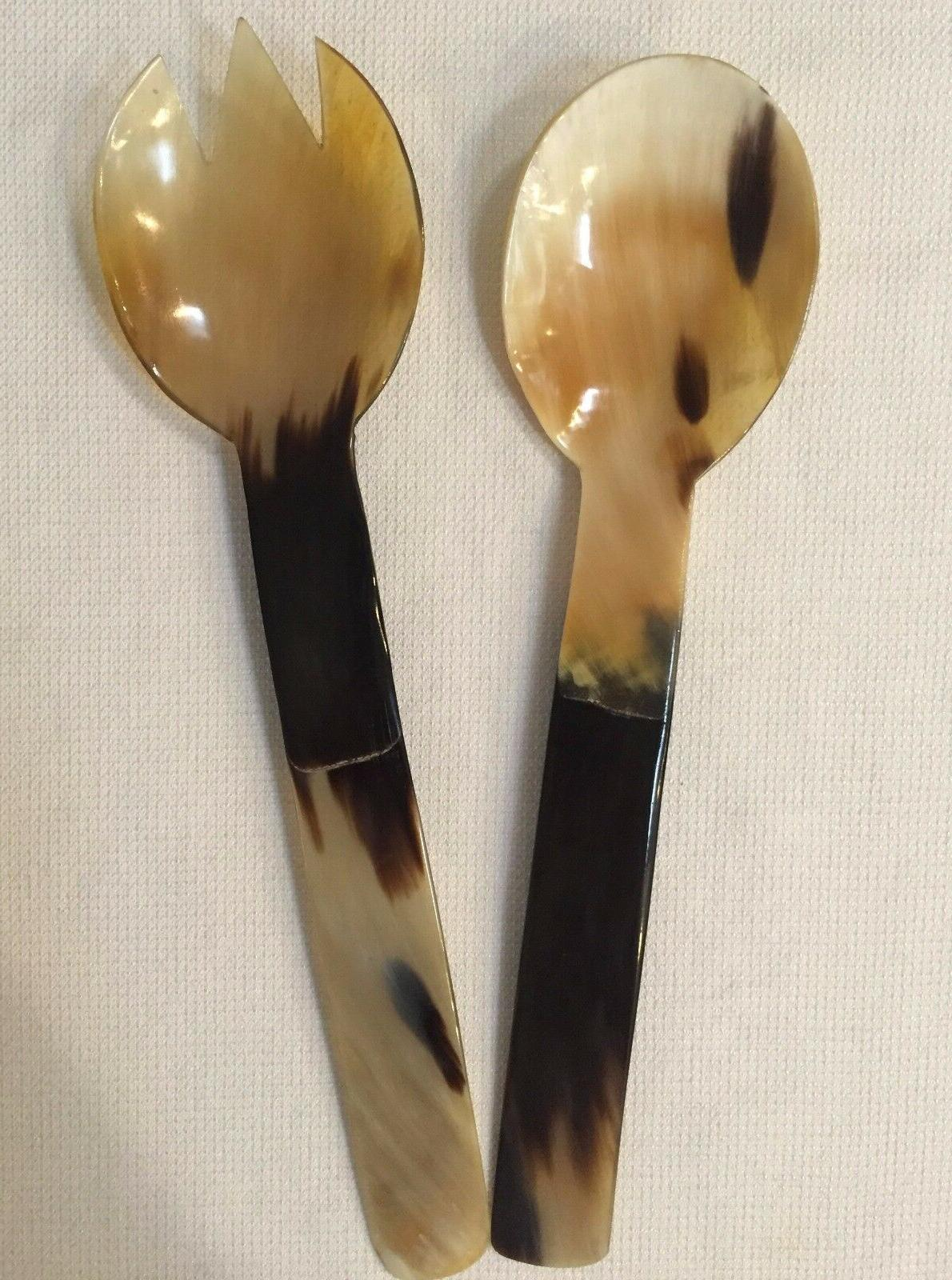 Salad Serving Spoon NEW Horn