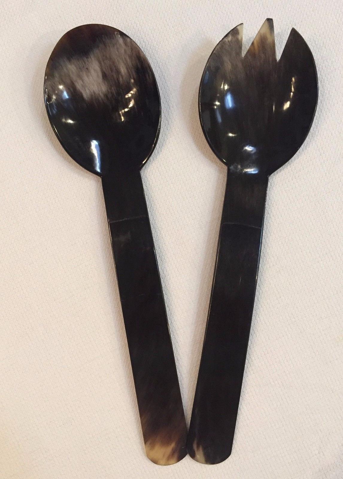 salad serving fork and spoon set dining