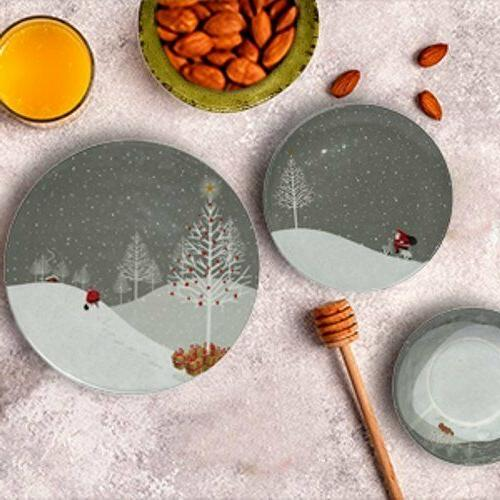 Santa Dishes Bowls Table Buffet Holiday