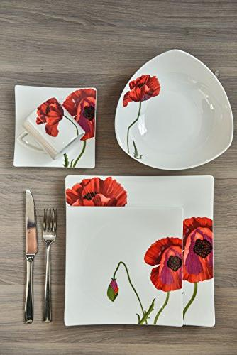 Red Piece Summer Place Setting,