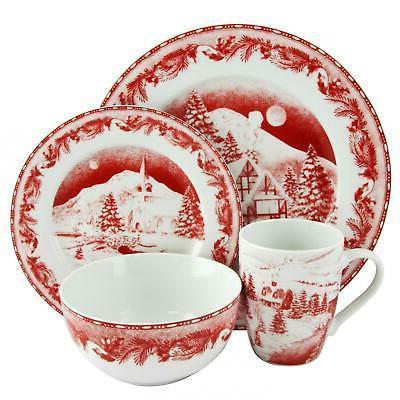 Christmas Set Service Stoneware Oven 16