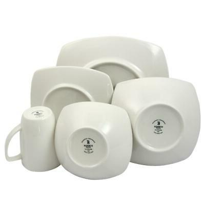 Christmas Holiday Winter Set Service for 4 Stoneware Safe 16 Pcs