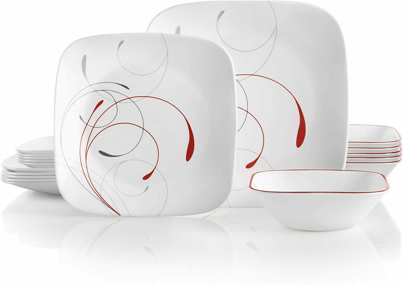 Corelle Service for 6, Chip Resistant, Splendor Dinnerware S