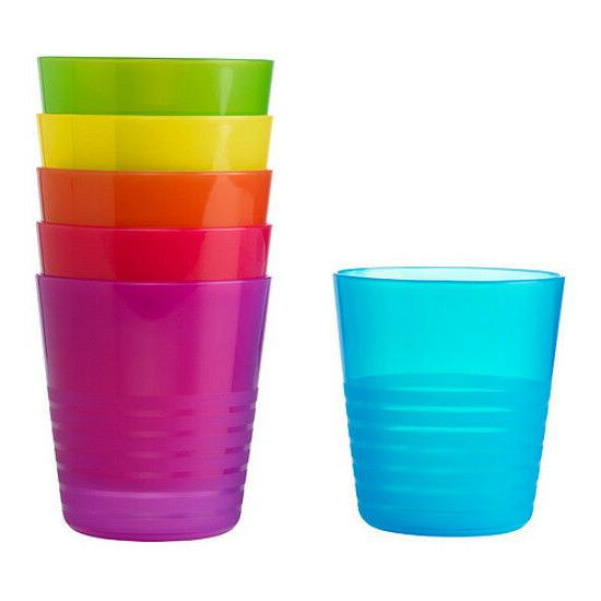 IKEA set 6 tumbler kids cup birthday party multi color dinne