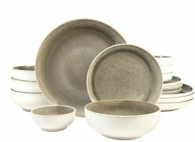 Set Dinnerware Dishes Plate Vintage Modern New