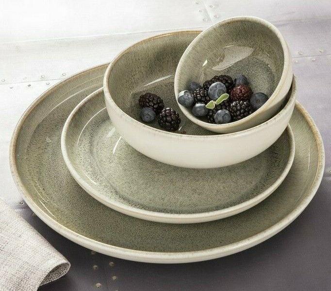 Set 16 Dishes Stoneware Modern