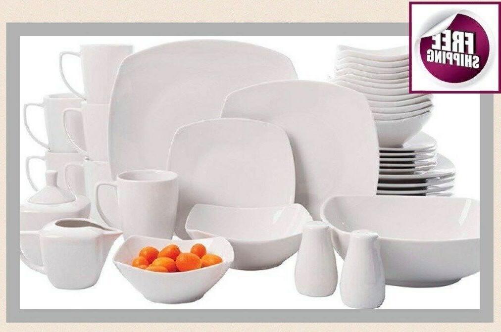 set dinnerware 46 pcs dishes plate mug