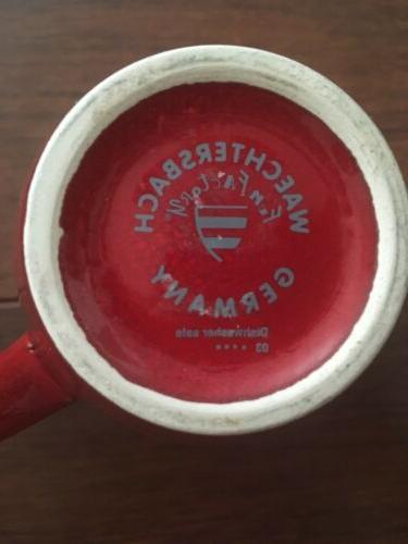 Set Germany Fun Cherry Red Cocoa Mugs