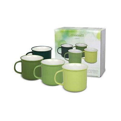 set of 4 cups elements jungle green